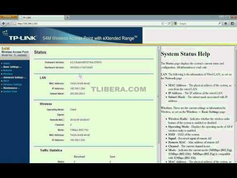 1-Parte Configuracion del Access Point Wifi Tplink en modo cliente - Window XP