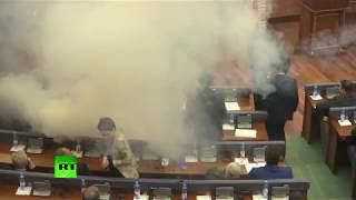 Opposition MPs teargas colleagues to disrupt parliament vote - RUSSIATODAY