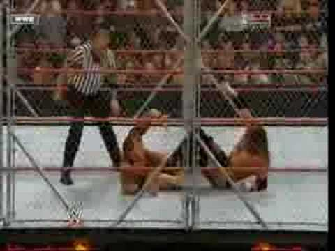 triple h vs randy orton steel cage for world title part2
