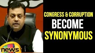 Sambit Patra says Congress and corruption has Become Synonymous | Mango News - MANGONEWS