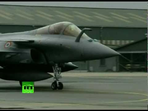 Target Libya: Video of French fighter jets headed for Benghazi