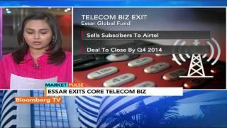 Market Pulse: Essar Exits Core Telecom Biz - BLOOMBERGUTV
