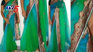 uppada saree - Green Color   Snehitha : TV5 News - TV5NEWSCHANNEL