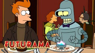FUTURAMA | Season 2, Episode 17: Elzar Invites The Crew To Dinner | SYFY - SYFY