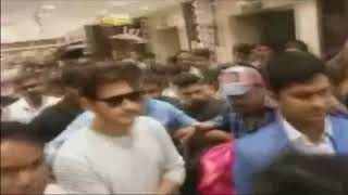 Super Star Mahsh Babu Visits Chennai Silks Shopping Mall at Kukatpally | Women Injured | iNews - INEWS