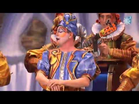 Sesión de Final, la agrupación El rey burlón actúa hoy en la modalidad de Comparsas.