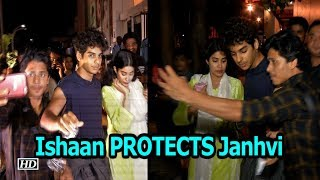 Ishaan PROTECTS Janhvi from a mob of fans - IANSLIVE