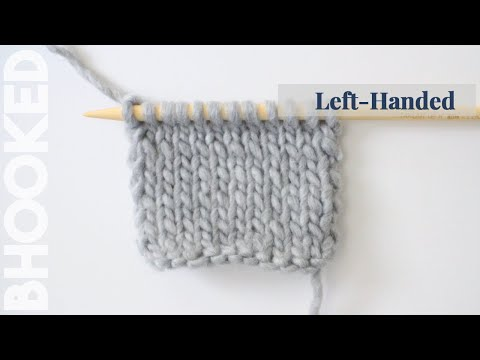 How to Knit the Stockinette Stitch Left Handed