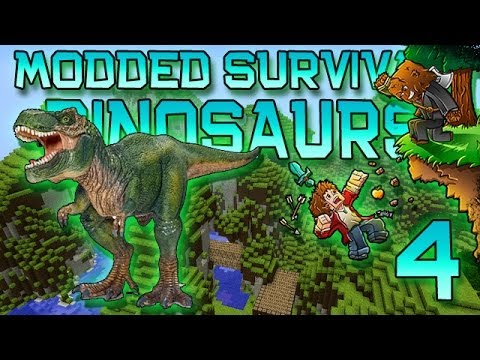 Minecraft: Modded Dinosaur Survival Let's Play w/Mitch! Ep. 4 - T-REX!
