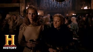 Vikings: Aslaug Reminds Lagertha She Is Queen (Season 4, Episode 12) | History - HISTORYCHANNEL