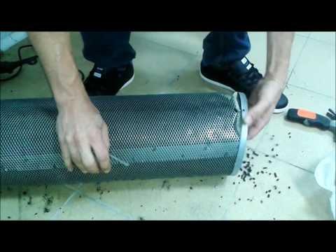 como rellenar filtro de carbon activo
