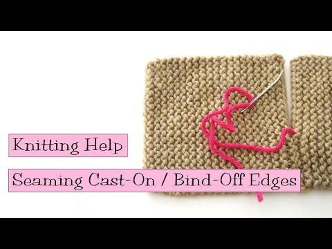 Seaming Cast On and Bind Off Edges