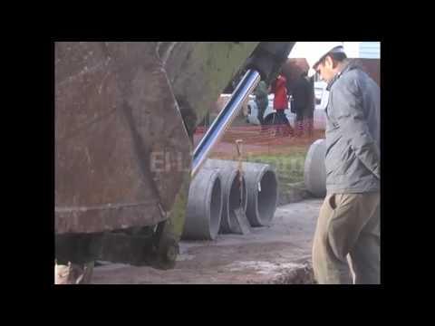 Avanza la obra del desag[ue pluvial en calle Piedras