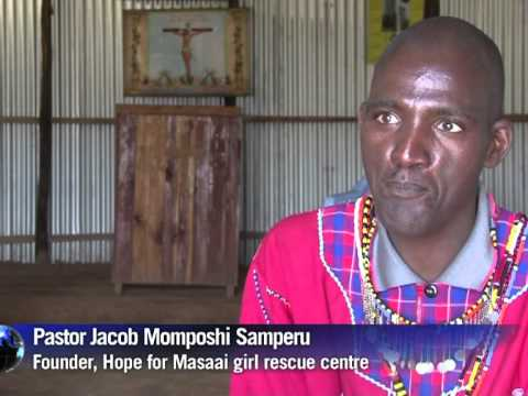 A rescue centre for Masaai girls fleeing circumcision