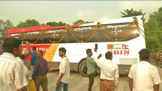 25 Apr, 2018 -  Bangladesh, Nepal tri-nation trial bus service reaches eastern India - ANIINDIAFILE