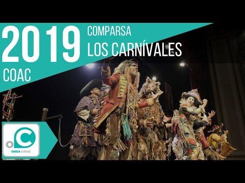 La agrupación Los carnívales llega al COAC 2019 en la modalidad de Comparsas. En años anteriores (2018) concursaron en el Teatro Falla como El perro andalú, consiguiendo una clasificación en el concurso de Final.
