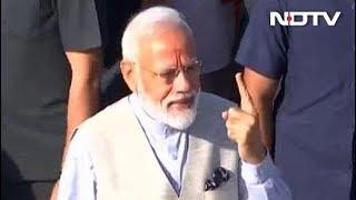 वोट डालने के बाद बोले पीएम मोदी : IED से ज्यादा शक्तिशाली वोटर आईड है - NDTVINDIA