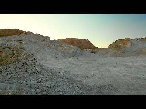 Stock Footage of colorful desert hills in Israel.