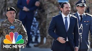 Lebanon Prime Minister Saad Hariri Seen At Parade After Mysterious Resignation | NBC News - NBCNEWS