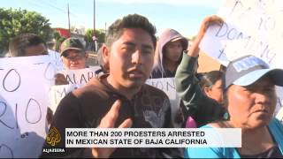 Thousands of Mexican farm workers protest low wages and poor working conditions - ALJAZEERAENGLISH
