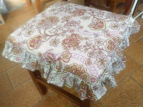 Capa de Almofada Para Cadeira com Babado