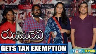 Rudhramadevi gets tax exemption - Anushka, Allu Arjun, Rana - TFPC
