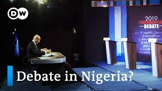 Nigeria holds first ever televised presidential debate | DW News - DEUTSCHEWELLEENGLISH