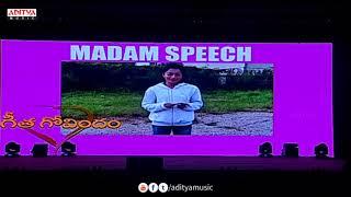 Rashmika Mandanna Speech Special AV @ Geetha Govindam Success Celebrations Live || Vijay Devarakonda - ADITYAMUSIC