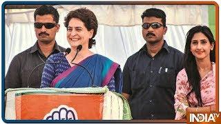 Jhansi में गठबंधन उम्मीदवार के लिए Priyanka Gandhi का प्रचार - INDIATV