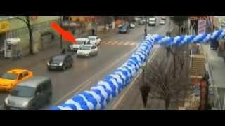 Gebze'de mobese kameralarına takılan ilginç kazalar