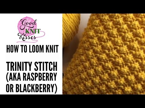 How to Loom Knit the Trinity Stitch and Pebble Pop Knit Pillow