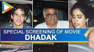 Boney Kapoor HOSTS special screening of Dhadak   Part 1 - HUNGAMA