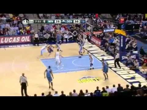Minnesota Timberwolves Vs Denver Nuggets First Half Highlights 01 03 2012 NBA Season 2013