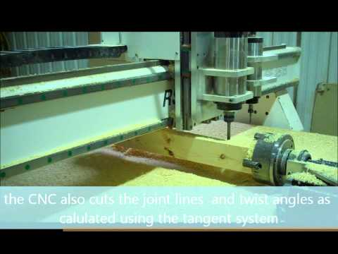 How to make a curved handrail on a CNC with rotary axis