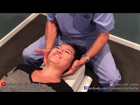 JUST ADJUSTMENTS - Chiropractic Adjustment on 18 Year Old With Forward Head Carriage