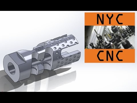Gimme a Brake! Machining a DIY CNC 9MM AR-15 Muzzle Brake! SprutCAM 9 CAM Video