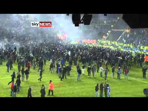 Birmingham City vs Aston Villa Pitch Invasion