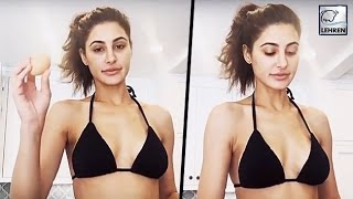 Shocking Video! Nargis Fakhri Forgot To Wear A TOP While Cooking | LehrenTV