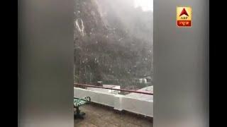 Season's first snowfall arrives in Vaishno Devi and Shimla - ABPNEWSTV