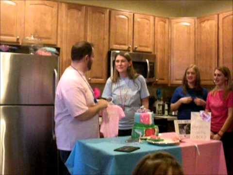 Football Gender Reveal Party with Cake - Hynes Family Baby Draft