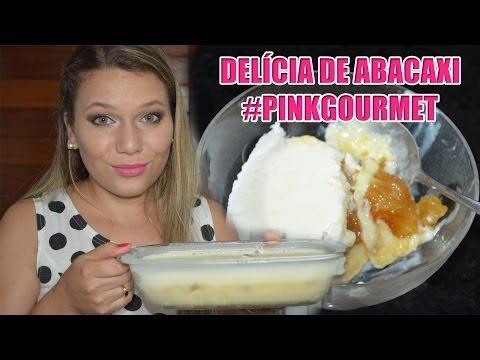 Delicia de Abacaxi - Sobremesa Gelada #PinkGourmet