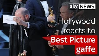 Hollywood reacts to Best Picture gaffe - SKYNEWS