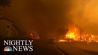 Mailman Returns To Route After CA Wildfires | NBC Nightly News - NBCNEWS