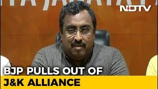 """""""Untenable"""" To Continue Alliance With PDP, Says BJP - NDTV"""