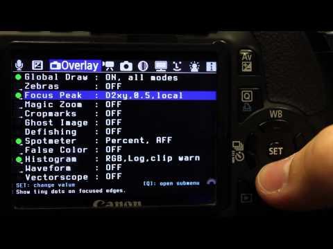 Magic Lantern 2.3 Tutorial for the T2i T3i 5D Mark ii