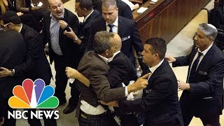 Arab Lawmakers Protest As Vice President Mike Pence Delivers Speech To Knesset | NBC News - NBCNEWS