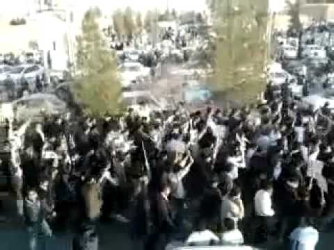Protests in Ardakan in support of former president Khatami - Iran 17 Feb. 2011