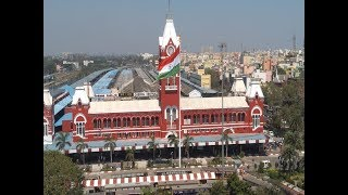 100-ft tall National Flag hoisted at Chennai Central - TIMESOFINDIACHANNEL