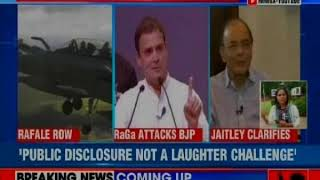 Rafale Deal row: FM Arun Jaitley clarifies, says Rahul Gandhi is in revenge mood - NEWSXLIVE