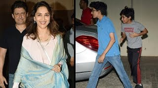 Madhuri Dixit spotted post movie date with family - TIMESOFINDIACHANNEL